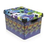 Boys Kids Children Graffiti Multi Coloured Bedroom Storage Box